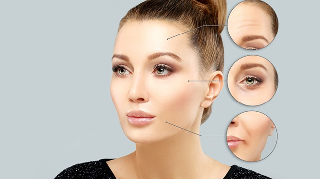 Areas of the face that can be injected with Botox